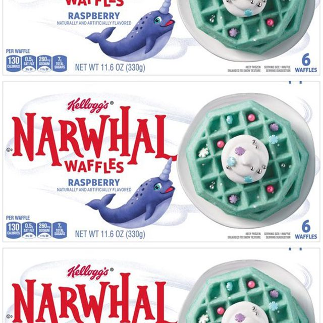 kellogg's narwhal raspberry waffles