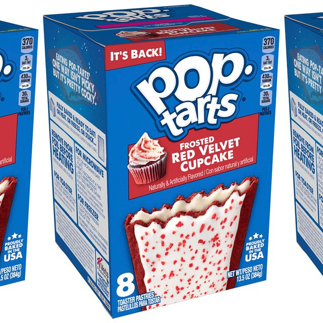 kellogg's pop tarts frosted red velvet cupcake toaster pastries