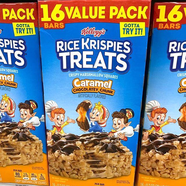 kellogg's rice krispies treats caramel chocolatey chunks