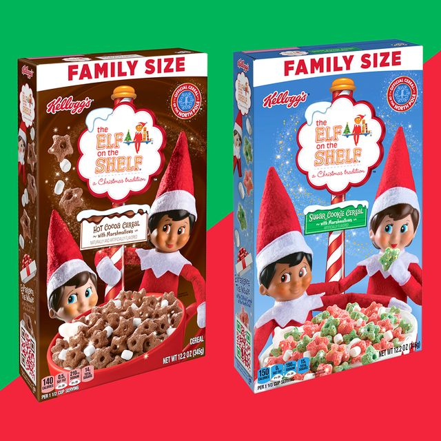 kellogg's the elf on the shelf hot cocoa and sugar cookies cereals
