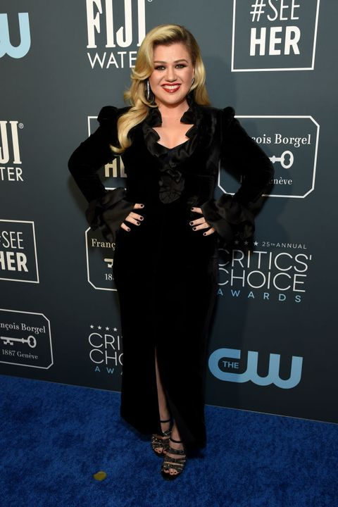 Kelly Clarkson Wore a Sultry Black Dress on the Red Carpet With Her Husband
