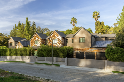 outside front of large gated home