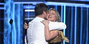 Simon Cowell and Kelly Clarkson at the Billboard Music Awards