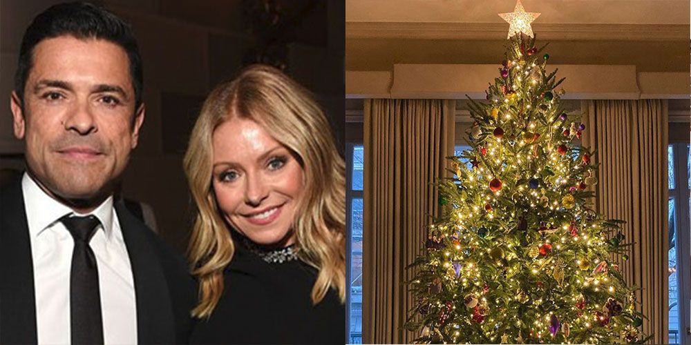 Kelly Ripa's Christmas Tree Is Covered With Photos of Her Family