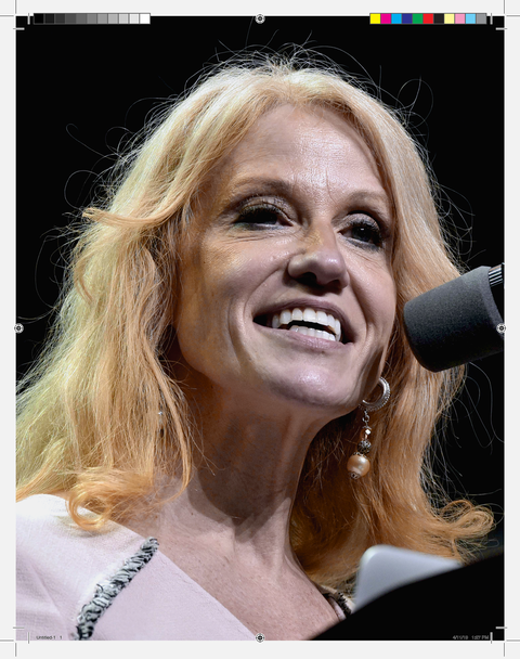 Kellyanne Conway, Counselor to President Donald Trump, was featured in early issues of George .