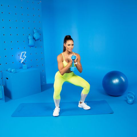 Exercise equipment, Strength training, Physical fitness, Ball, Swiss ball, Arm, Lunge, Shoulder, Joint, Fitness professional,