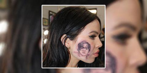 34b34ef64 Singer Kelsy Karter, who got Harry Styles tattooed onto her face ...