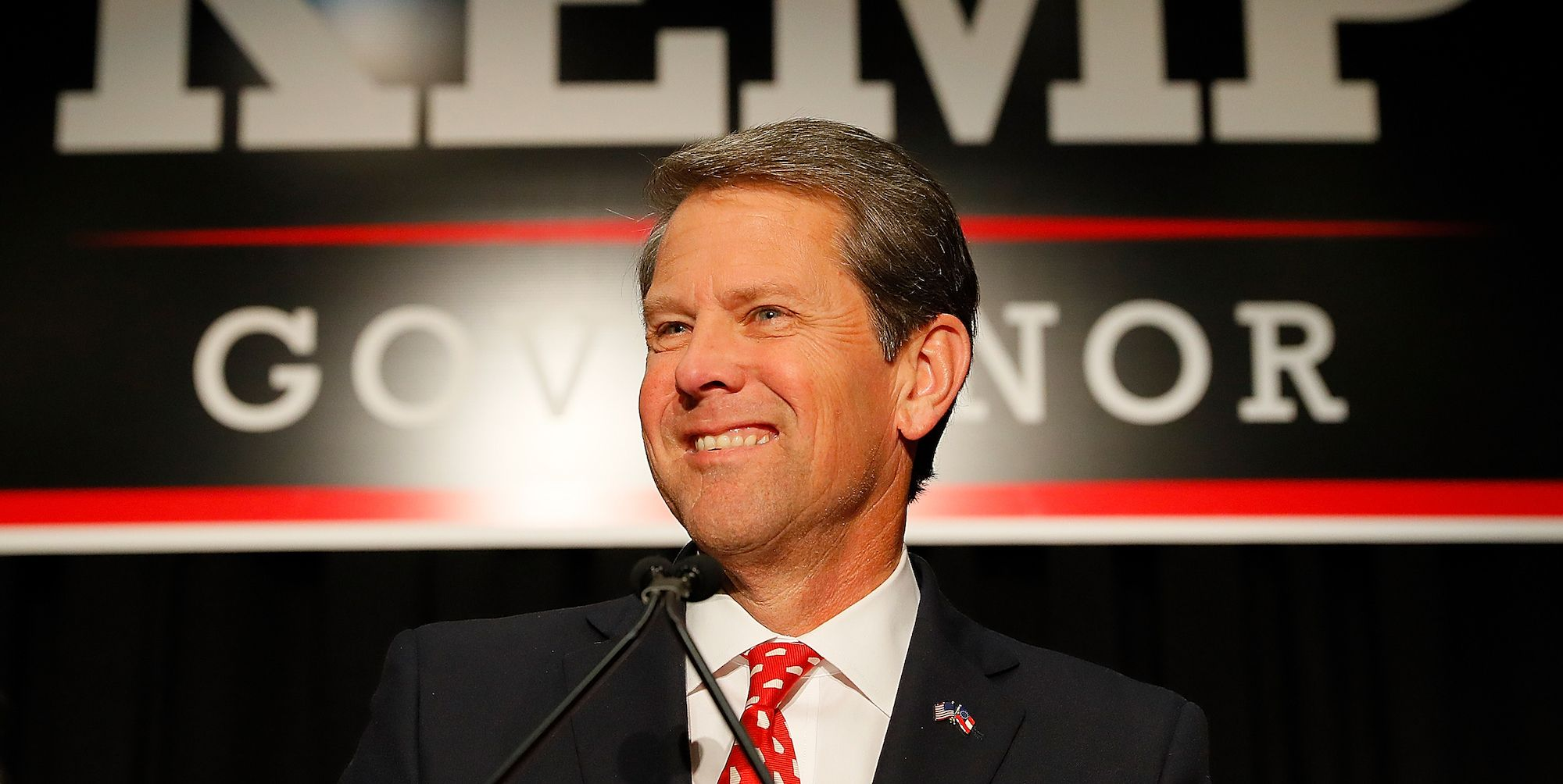 Republican Candidate For Governor Brian Kemp Attends Election Night Event In Athens, Georgia