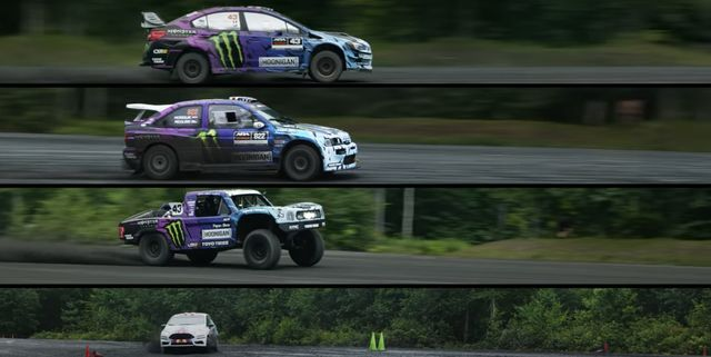ken block 2000 hp rally car shootout