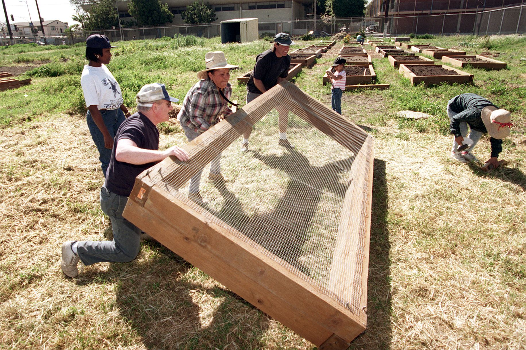 Building a raised garden bed frame that includes protection from burrowing animals