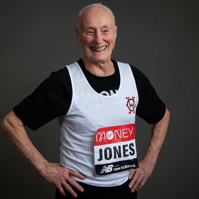 ken jones, 86 years old, part of the ever presents, the name of the group of runners who have participated in every single london marathon since 1981, and their friends and families ahead of the 40th  and will run it for the 40th time in the historic 40th race launch marathon house, london tuesday 4th february 2020 photo thomas lovelock for london marathon events  for further information medialondonmarathoneventscouk