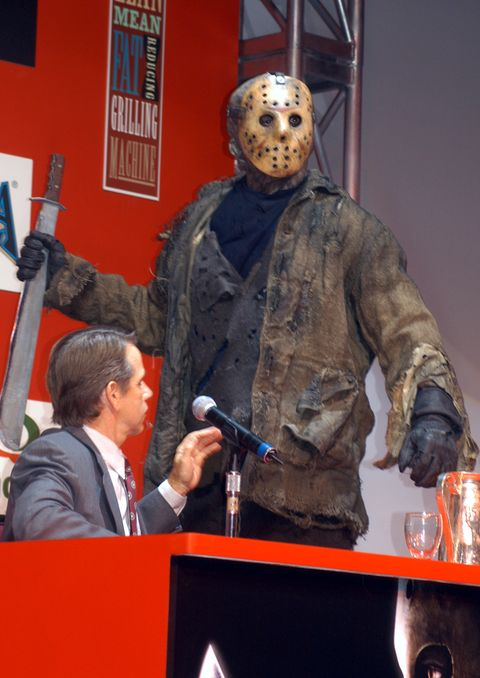 """robert englund and ken kirzinger face off in las vegas to promote the film """"freddy vs jason"""""""