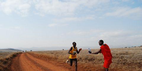 Shadrack Chepyego at the Lewa Marathon in Kenya