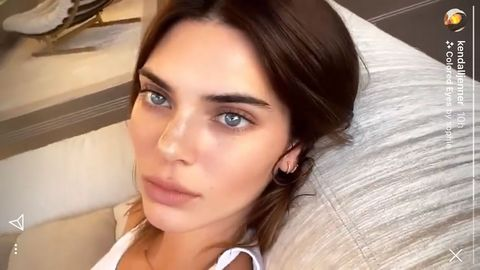 See Kendall Jenner With Blue Eyes On Instagram