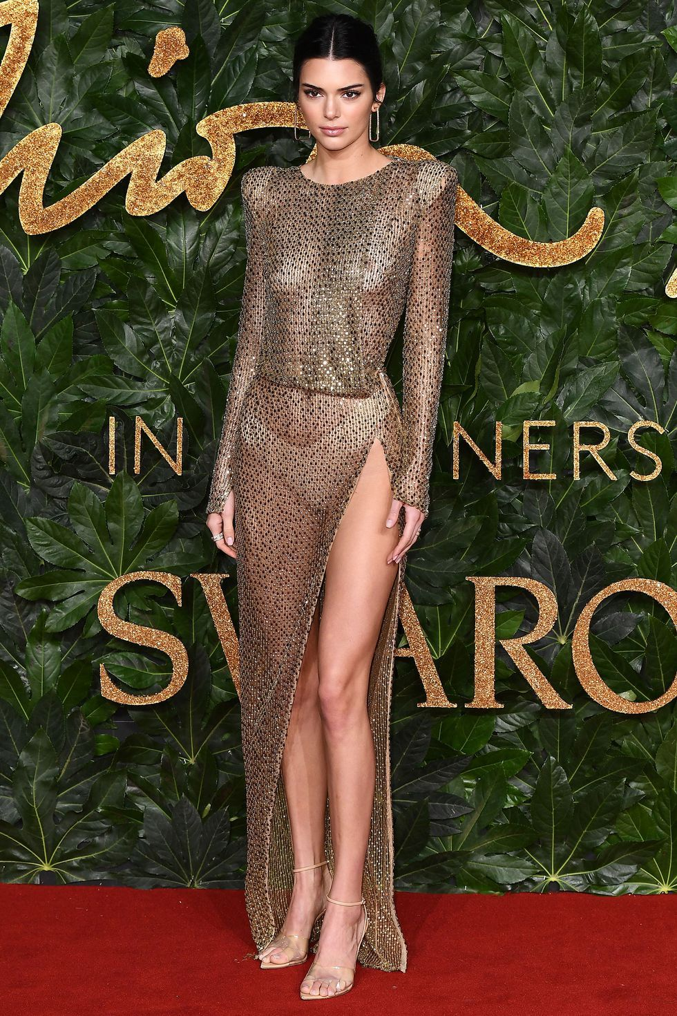 Kendall Jenner wore a completely sheer dress to the Fashion Awards
