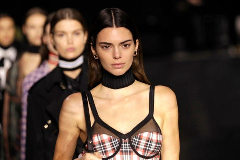 london, england   february 17 kendall jenner walks the runway during the finale at the burberry show during london fashion week february 2020 on february 17, 2020 in london, england photo by john phillipsbfcgetty images for bfc