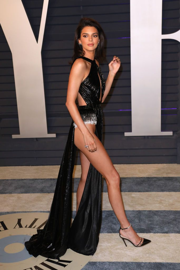 Kendall Jenner Jenner arrived to the 2019 Vanity Fair Oscars After-Party in a lewk. Her Rami Kadi dress was nearly naked from the waist down and she carefully maneuvered through the red carpet to avoid wardrobe malfunctions.