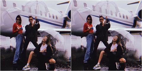 12fb1e1e Kendall Jenner, Gigi And Bella Hadid Can Even Make Rain Look Chic