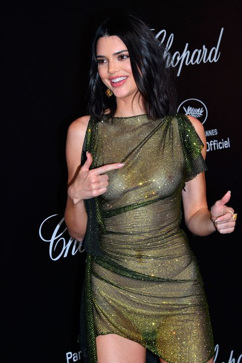 215e90aff9 Kendall Jenner wears completely sheer dress on the Cannes red carpet