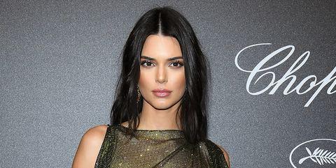 2ce26d45a53cd Kendall Jenner's Sheer Mesh Dress Cannes Film Festival - Kendall ...