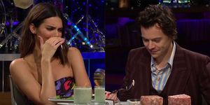 Kendall Jenner en Harry Styles in de Late Late Show