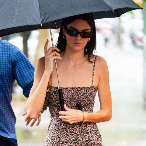 be5e23813a7c Kendall Jenner Wears a Tiny Leopard Print Mini Dress in New York