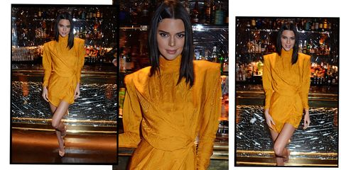 Kendall Jenner Glows In Orange Snakeskin-Print Dress At Late-Night Party In London