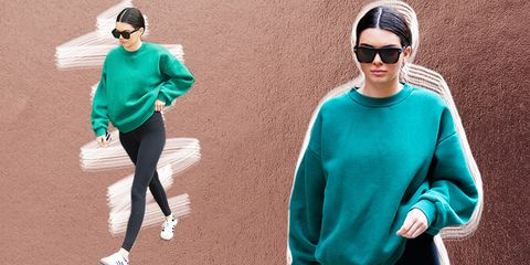 d7451c1746666a Why Does Kendall Jenner Look so Chic in an Oversize Sweatshirt and ...