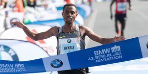 Kenenisa Bekele en el Maratón de Berlín 2019