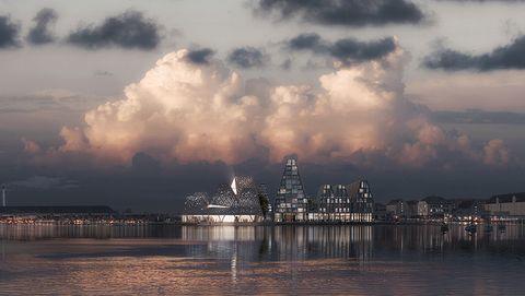 El nuevo centro acuático en Copenhague estará entre pirámides