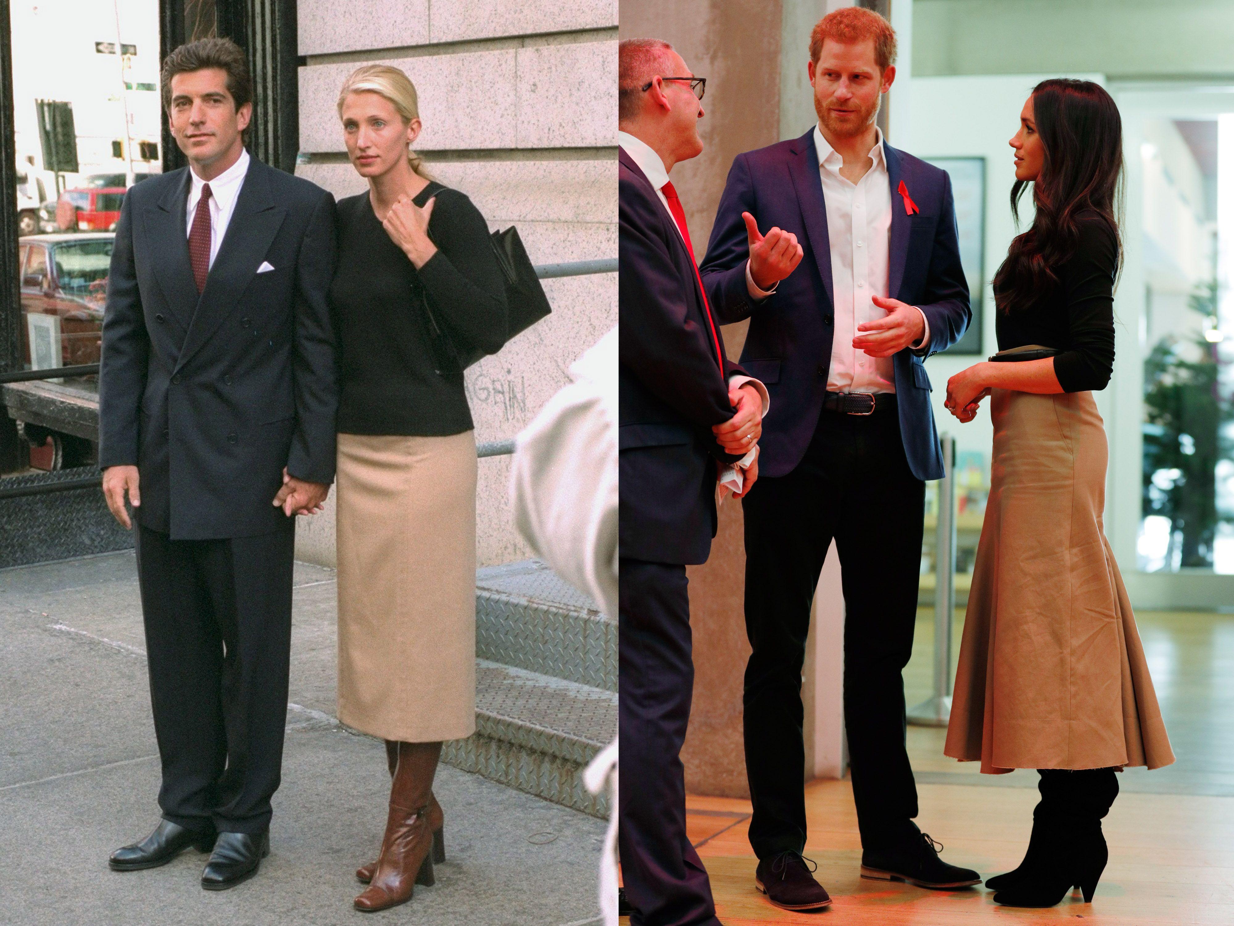 Carolyn Bessette Wedding.Meghan Markle Channels Carolyn Bessette Kennedy For Her First Royal