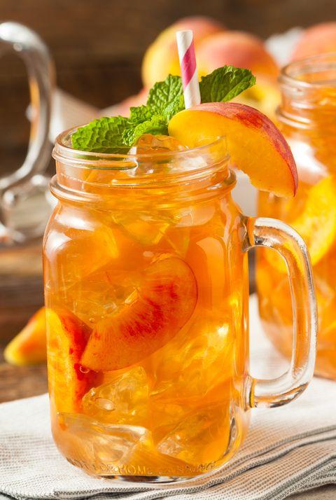 Food, Drink, Iced tea, Ingredient, Mason jar, Arnold palmer, Orange drink, Long island iced tea, Fruit preserve, Tea,