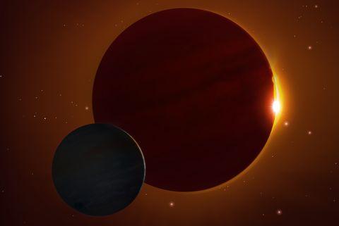Kepler 1625b Exomoon, illustration
