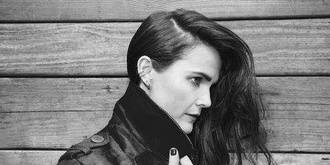 Hair, Photograph, Hairstyle, Beauty, Black-and-white, Jacket, Lip, Eye, Leather jacket, Photography,