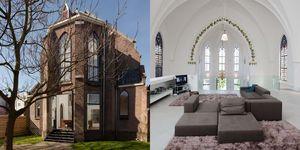 Kerk en woonhuis