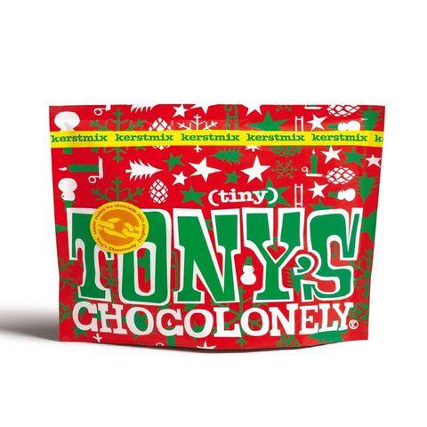 tony's chocolonely tiny tony's kerstpouch 180 gram