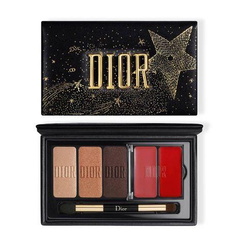 kerstcadeaus beauty skincare dior sparkling couture palette   limited edition lip  en oogschaduwpalette