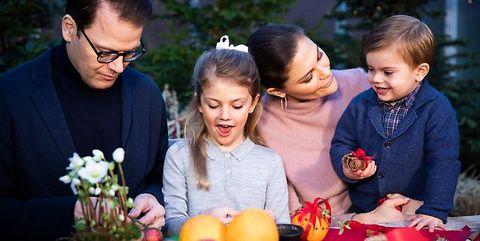 kerstvideo, Zweedse koningshuis, Zweedse royals, video
