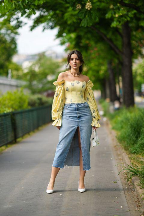 gonna di jeans moda estate 2021