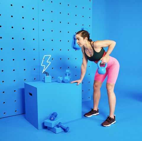 Exercise equipment, Arm, Leg, Electric blue, Physical fitness, Muscle, Balance, Human leg, Swiss ball, Thigh,