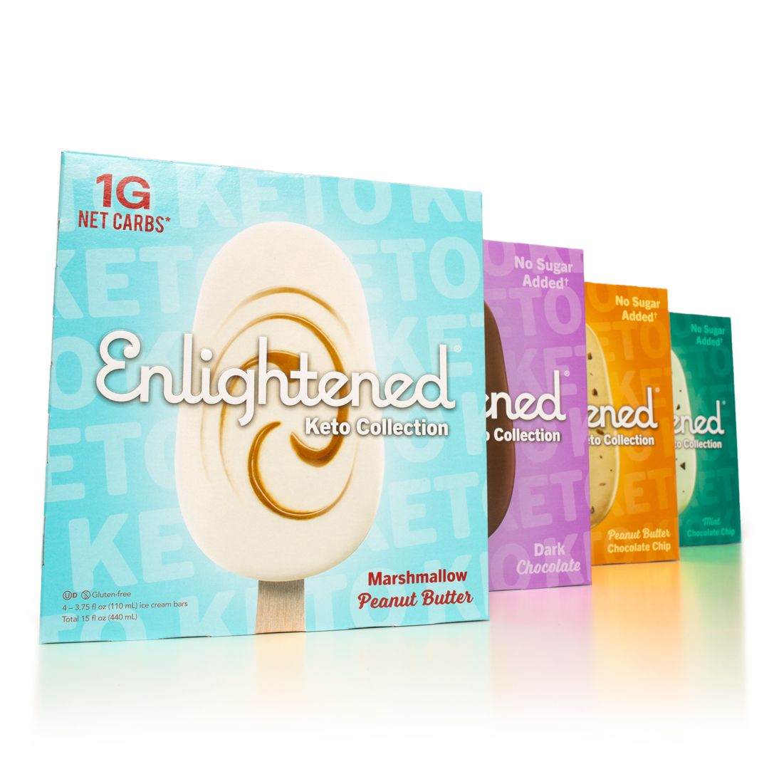 Enlightened Dropped A Ton Of Keto-Friendly Ice Cream Bars Including A Marshmallow Peanut Butter Flavor