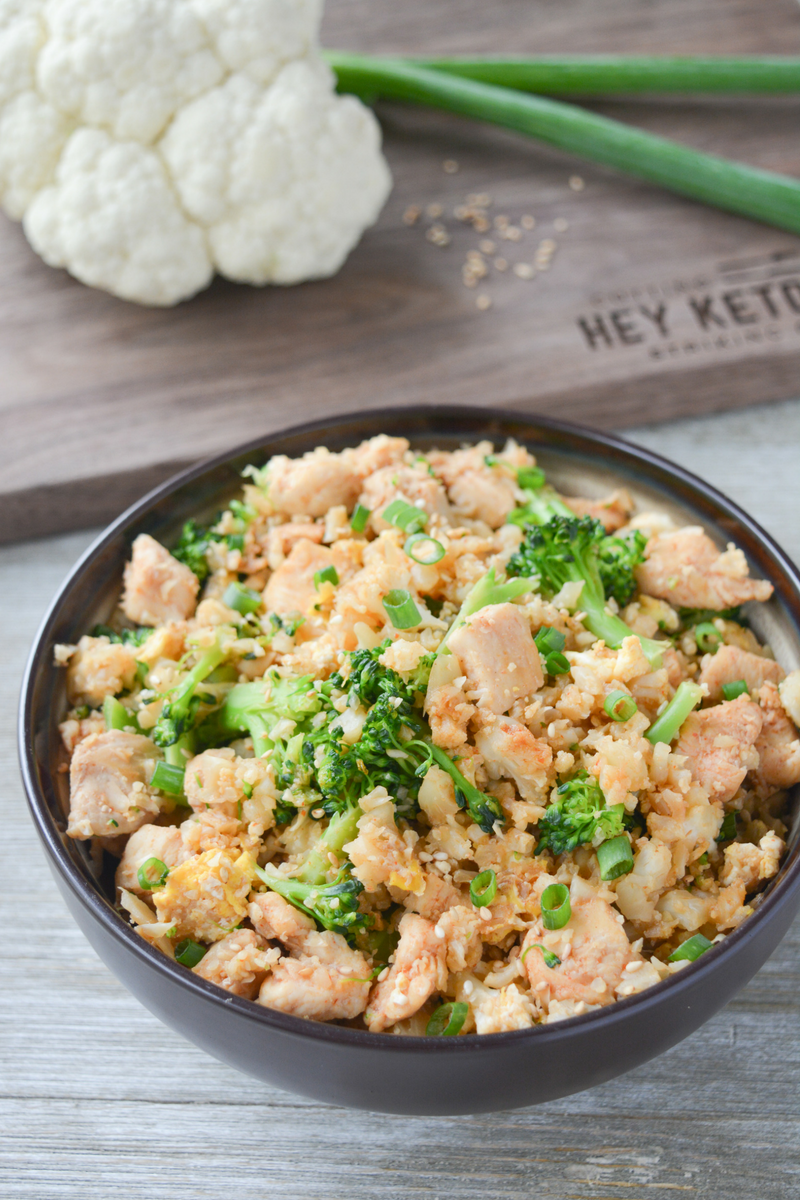 keto chicken fried cauliflower rice
