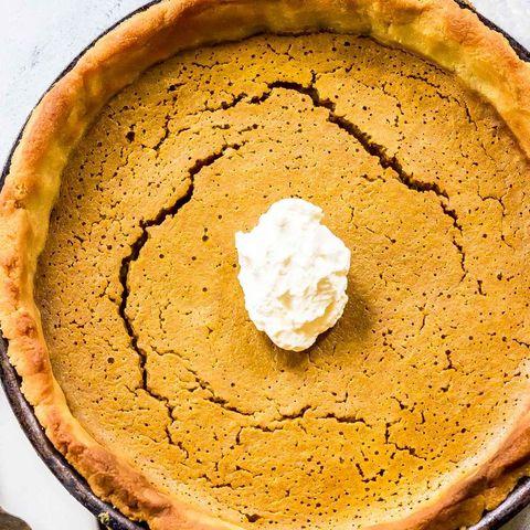 cast iron keto pumpkin pie thanksgiving ketosis