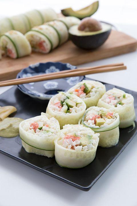 sushi para cenar dieta