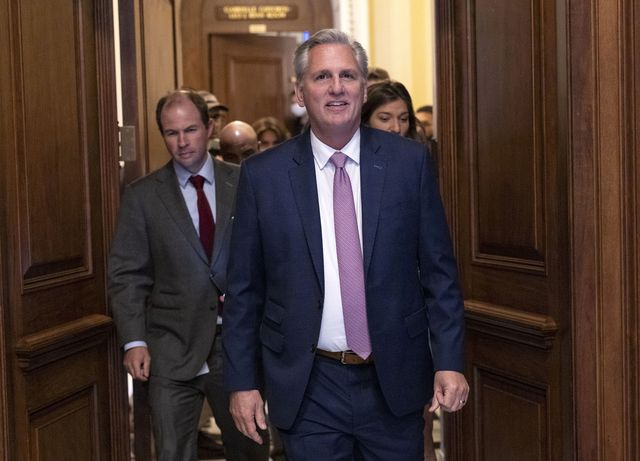washington, dc   june 30 house minority leader kevin mccarthy r ca leaves the house chambers after a vote on creating a january 6th committee at the us capitol june 30, 2021 in washington, dc the house voted 222 190 to create a 13 member select committee to investigate the january 6th attack on the us capitol photo by kevin dietschgetty images