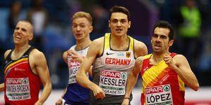 Kevin López en los 1.500m de la Ryder Cup de atletismo