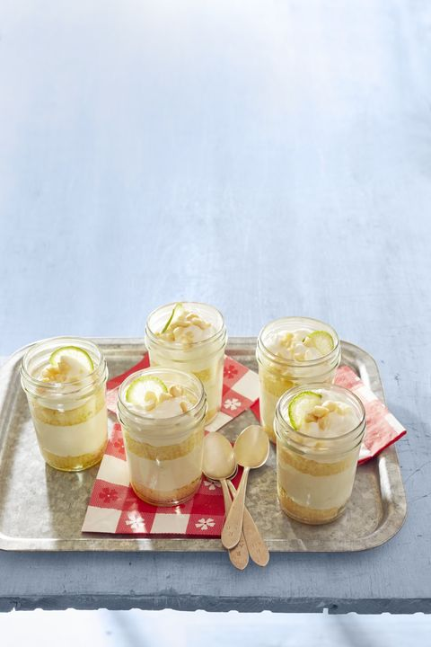 key lime cakes in a jar
