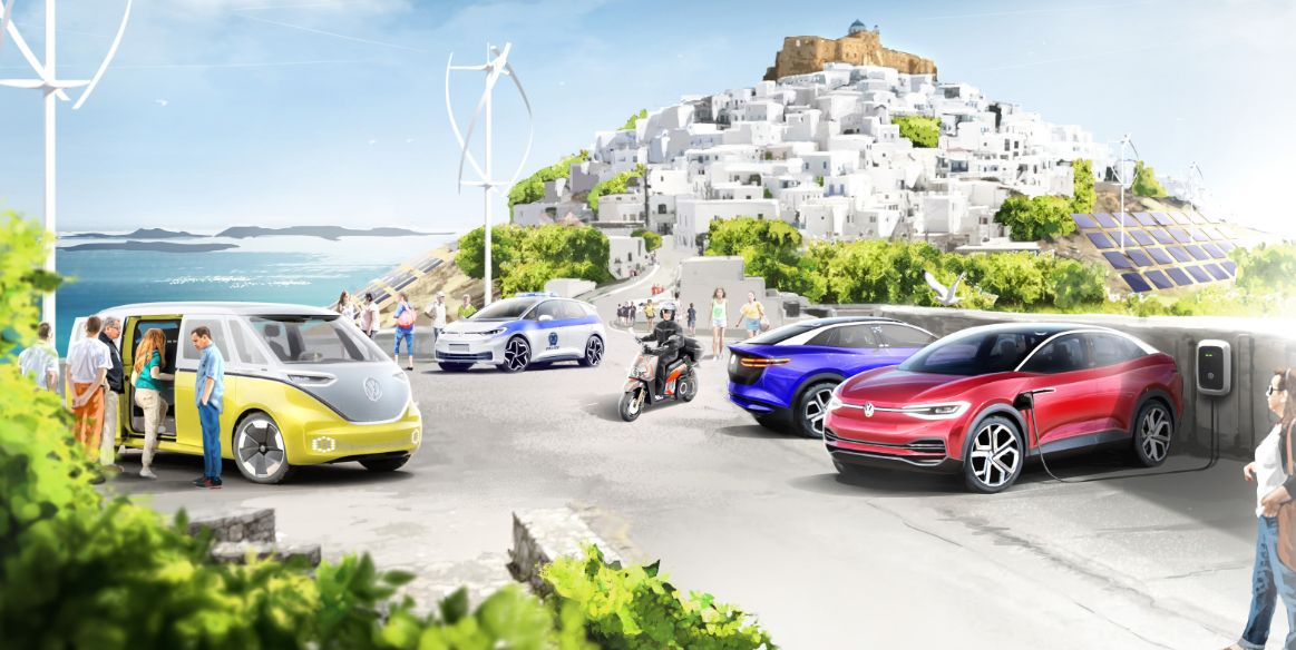VW Will Turn a Greek Island into a Model of Green Mobility