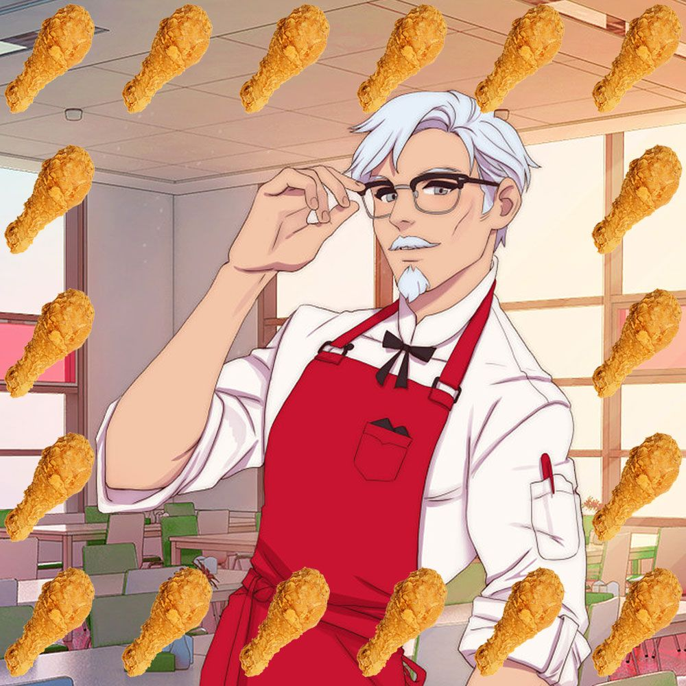 There's a Sexy KFC Game Coming Soon in Which You Can Seduce Colonel Sanders