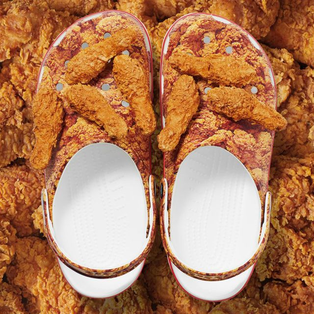 kfc crocs with fried chicken scented charms